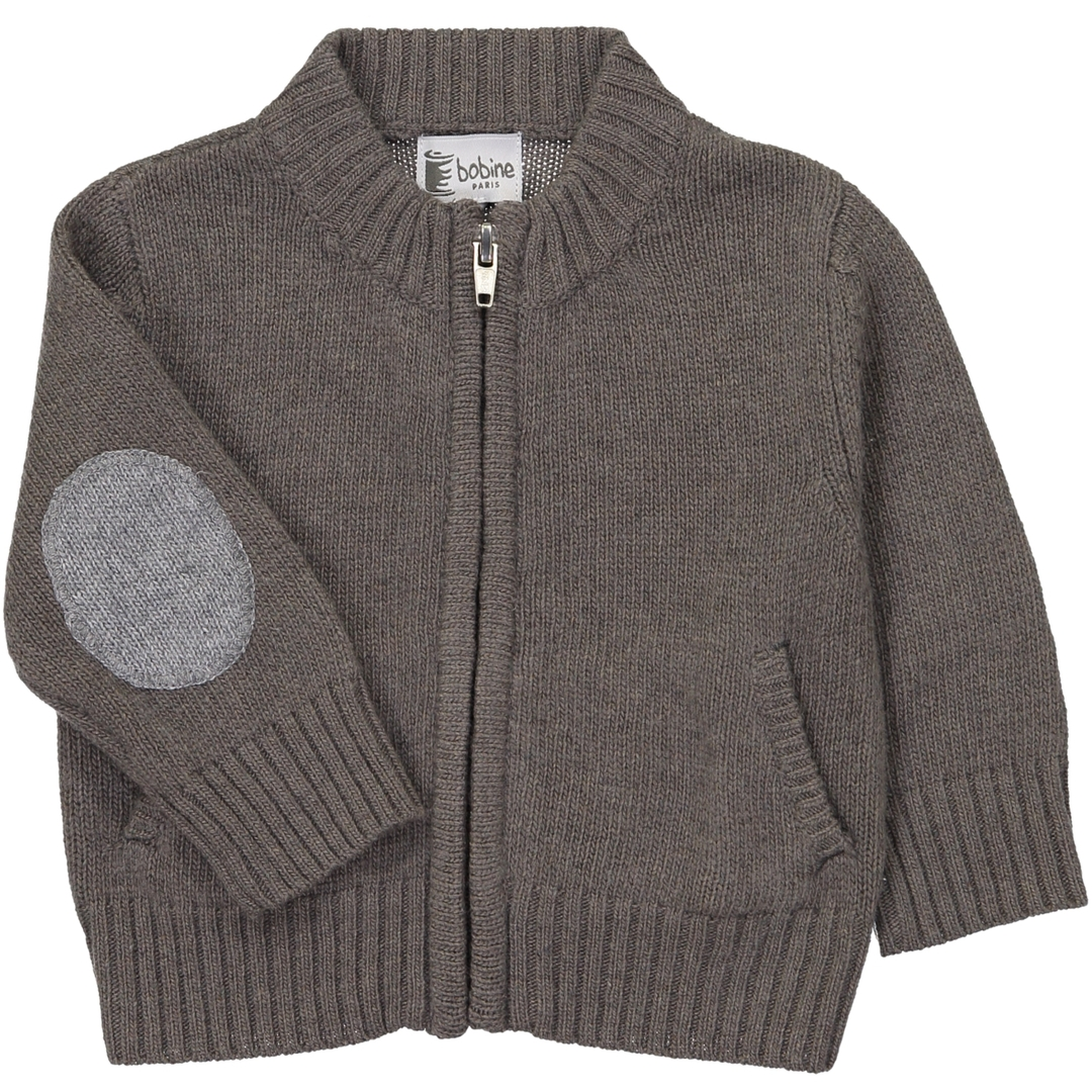 Gilet BB Col montant - Taupe-1