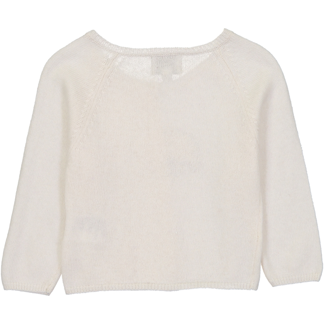 Pull BB Cache-coeur Ours - Blanc-2