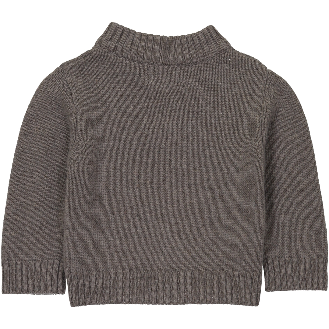 Pull BB Col Zip - Taupe - Col Ciel-2
