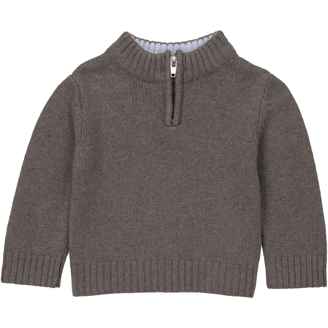 Pull BB Col Zip - Taupe - Col Ciel-1