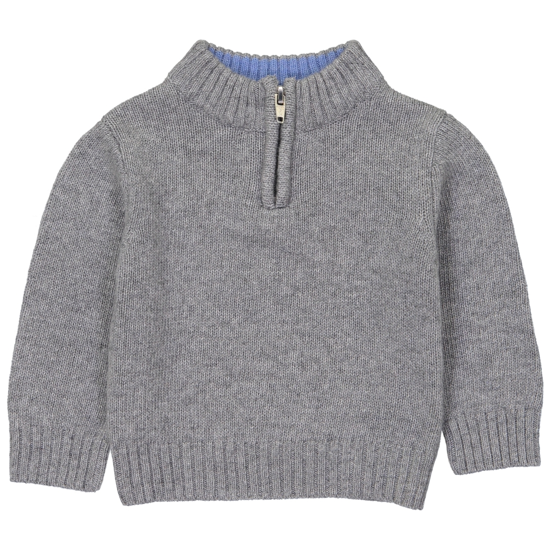 Pull BB Col Zip - Gris - Col Jean-1