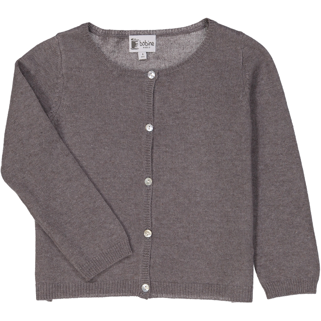 Cardigan Fille - Taupe-2