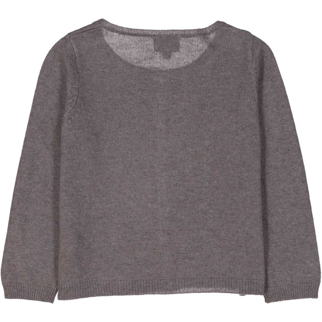 Cardigan Fille - Taupe-1