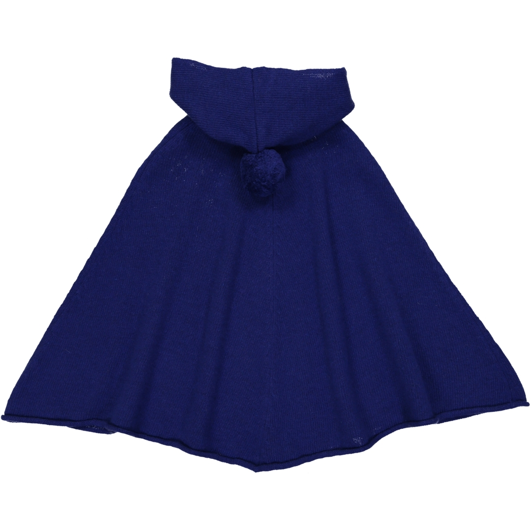 Poncho Capuche - Bleu-2