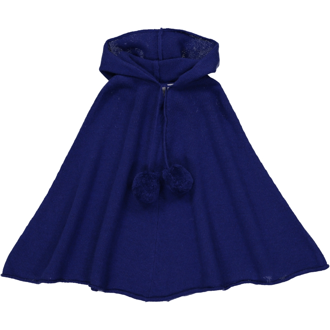 Poncho Capuche - Bleu-1