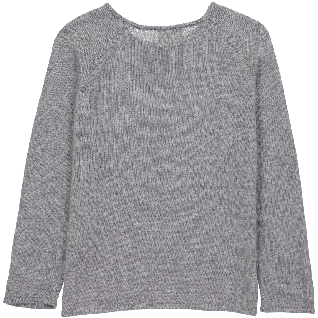 Pull Boutons Chat - Gris-2