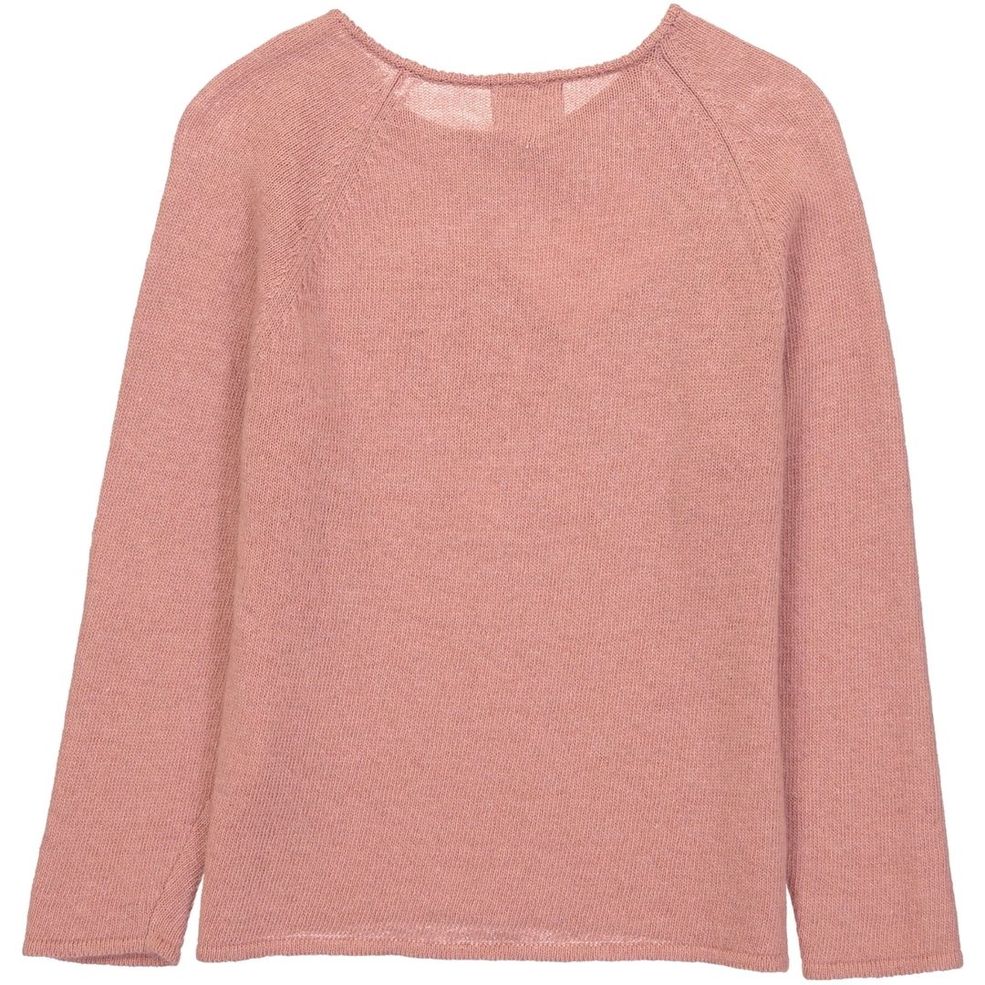 Pull Boutons Montgolfiere - Vieux rose-2