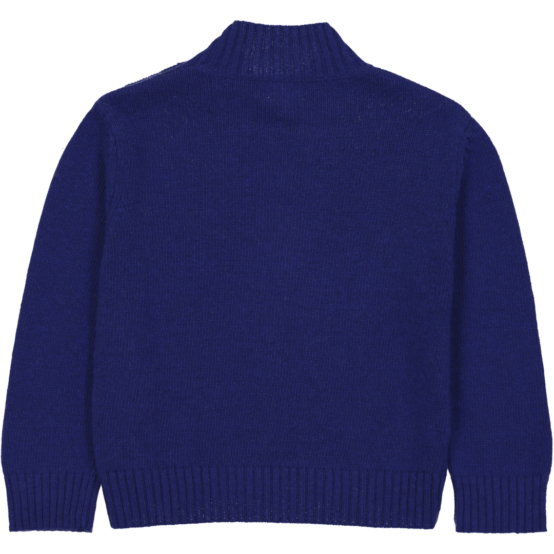 Pull Boutons - Bleu-2