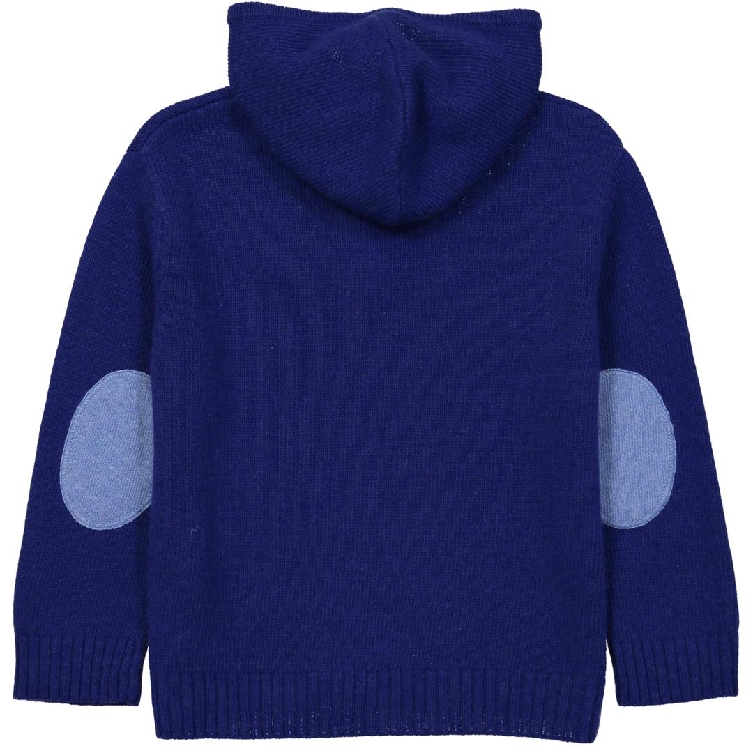 Pull Capuche Zippe - Bleu-1