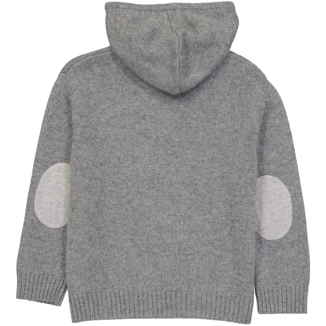 Pull Capuche Zippe - Gris-1