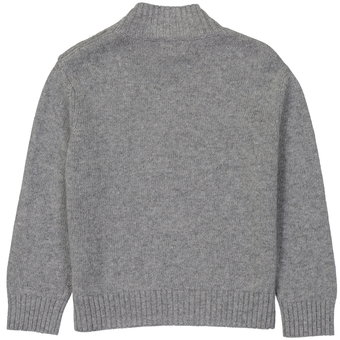Pull Boutons-Gris-dos