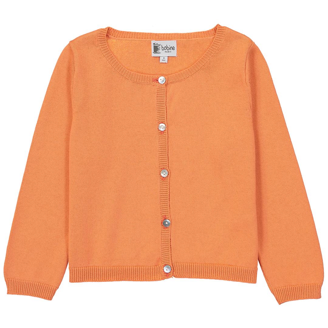 Cardigan-orange-bobine