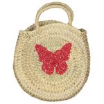 panier-en-osier-rond-papillons-rouge