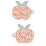 Glitter_peach_clips