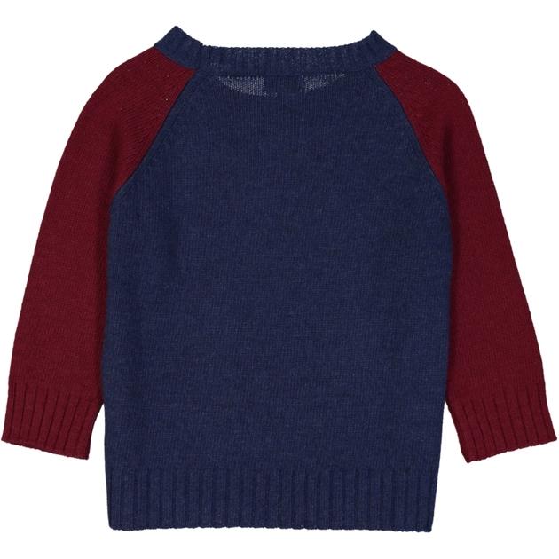 pull bicolore bleu & rouge vin dos _1000x1000