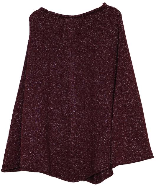 poncho fille paillet rouge vin ponchos enfant fille bobine. Black Bedroom Furniture Sets. Home Design Ideas