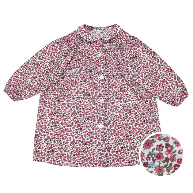 tablier cole fille col claudine fleurs rouge tabliers d 39 cole tablier cole fille bobine. Black Bedroom Furniture Sets. Home Design Ideas