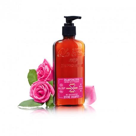 Shampoing Cheveux Secs et Fragilisés à la Rose