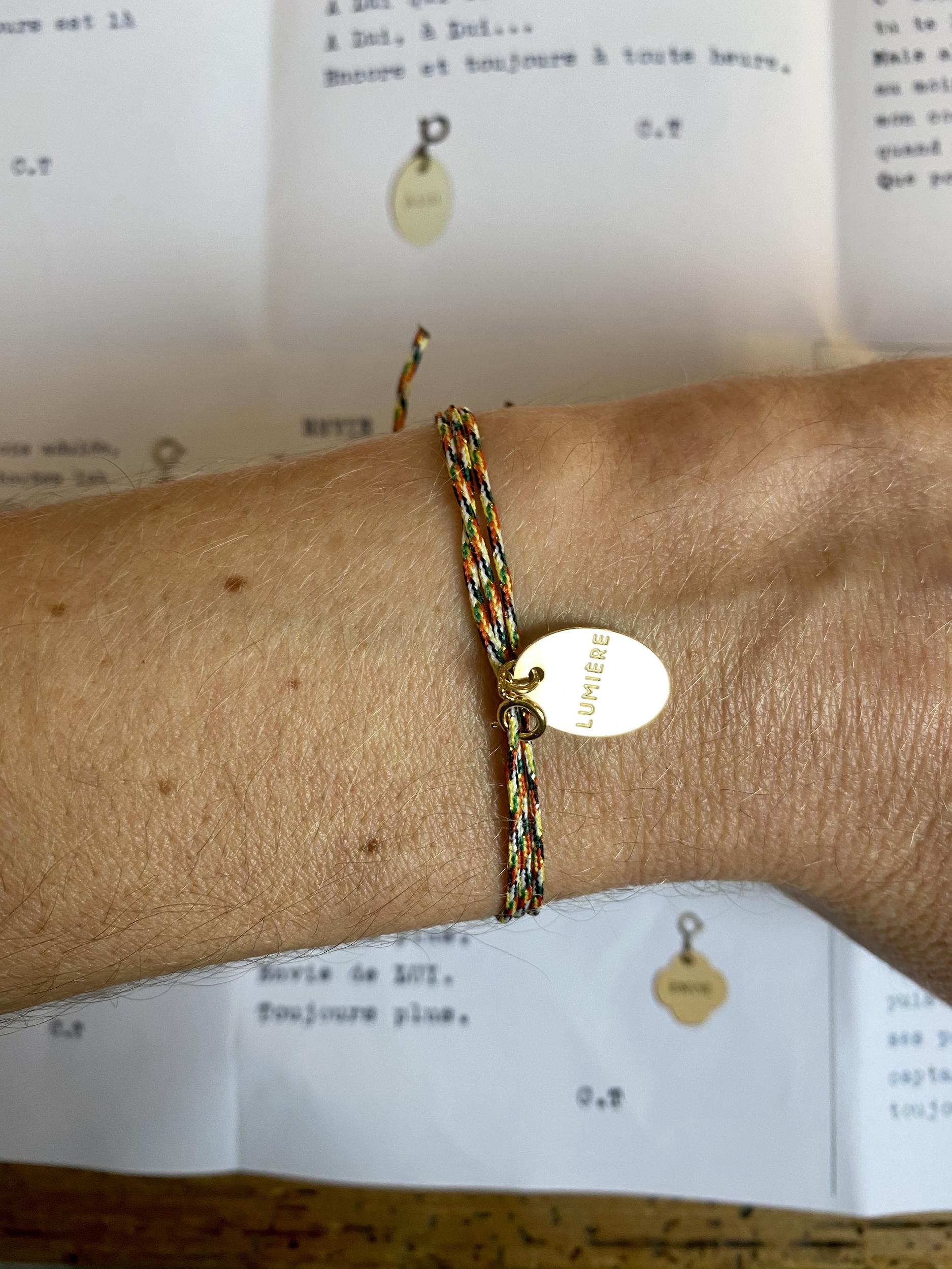 Bracelet Une médaille...un mot