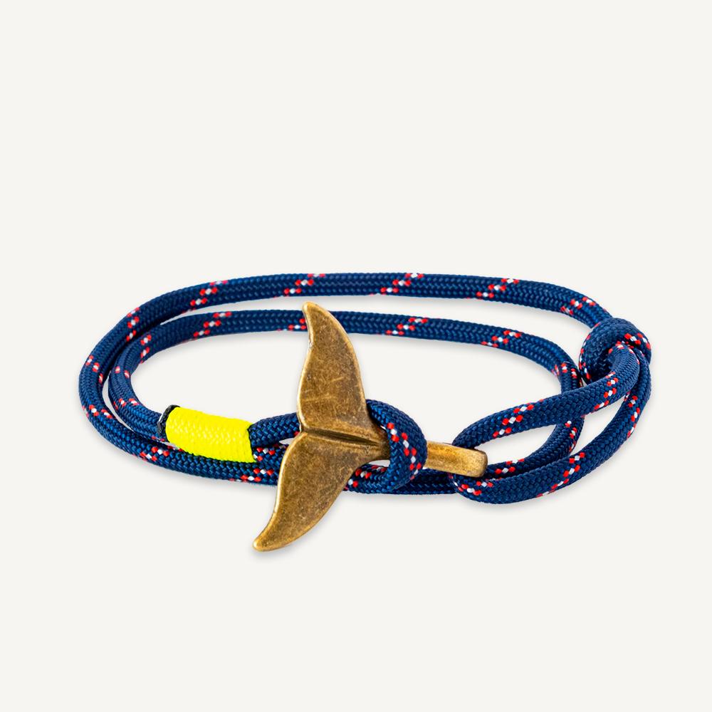 Bracelet queue de baleine bleu marine