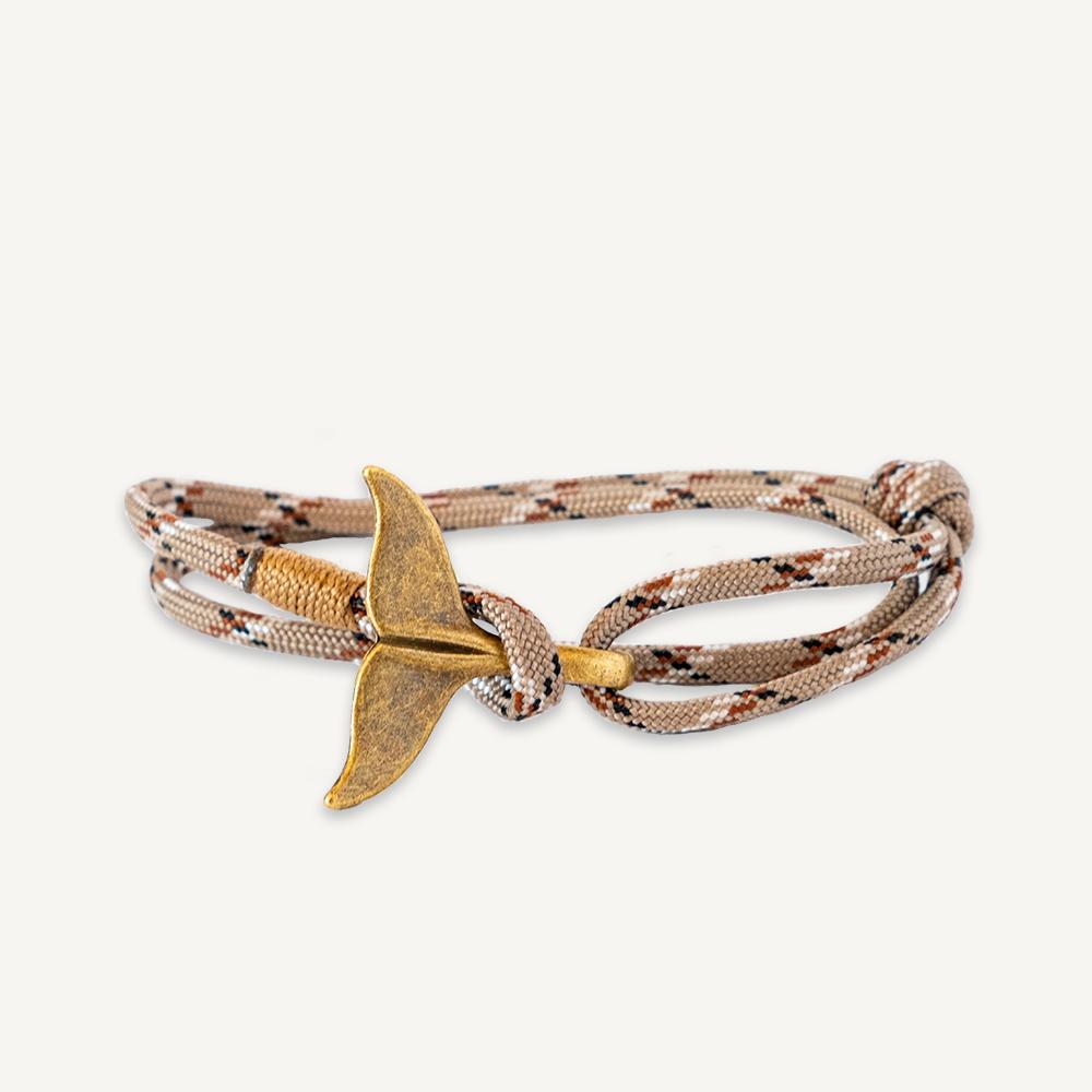 Bracelet queue de baleine beige