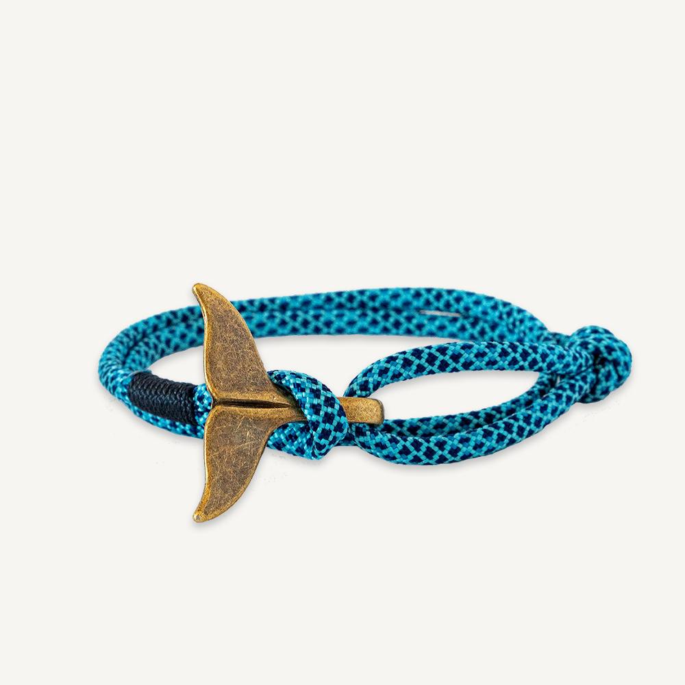 Bracelet marin queue de baleine bleu