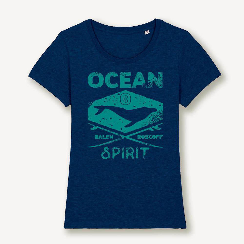 T-shirt Ocean spirit bleu & turquoise