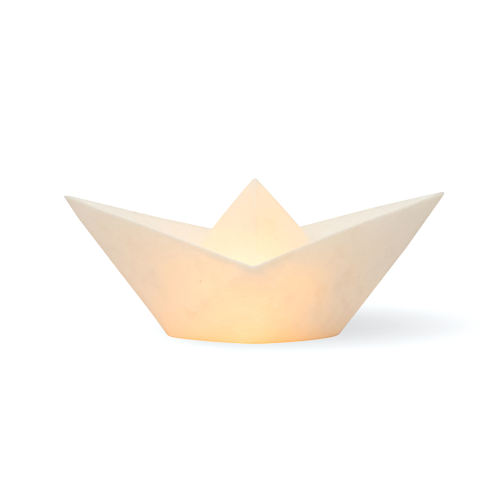 Lampe bateau papier