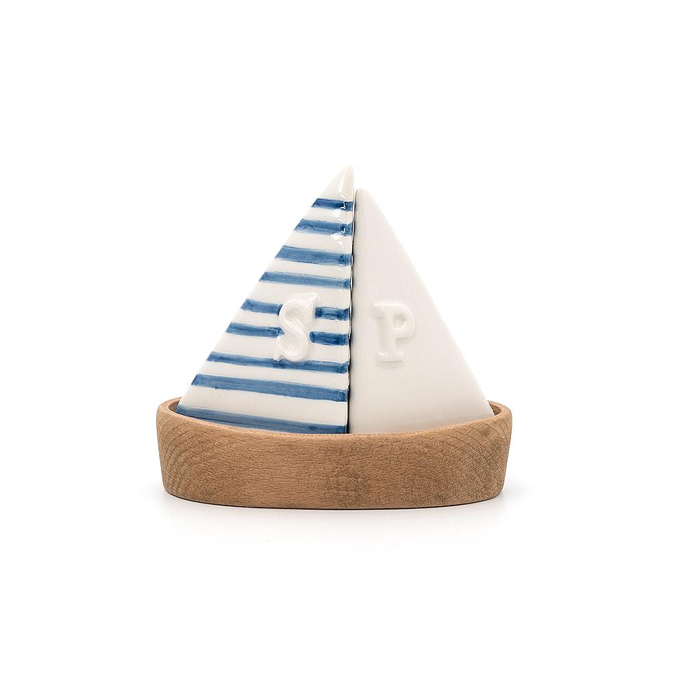 Salière et poivrière bateau marinière
