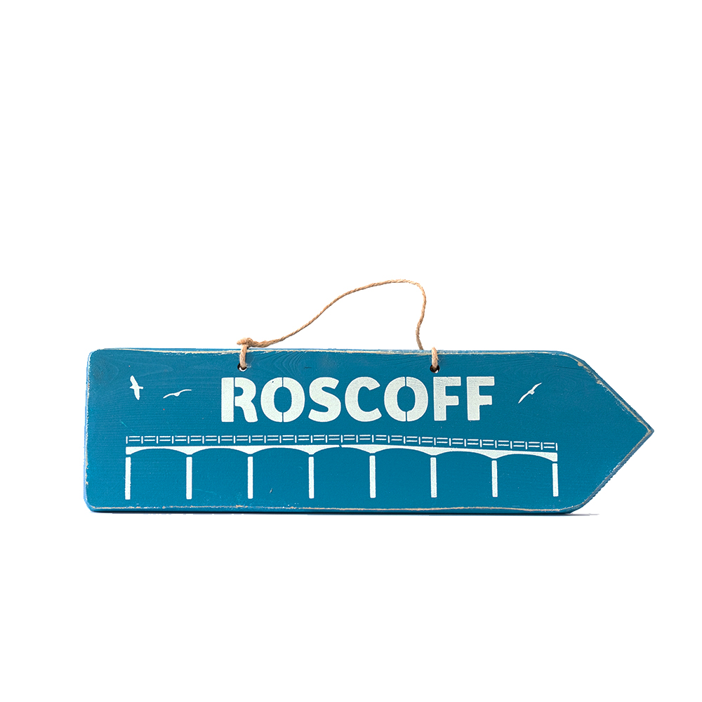Pancarte ROSCOFF marine