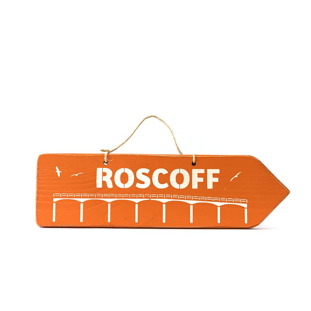 Pancarte ROSCOFF orange