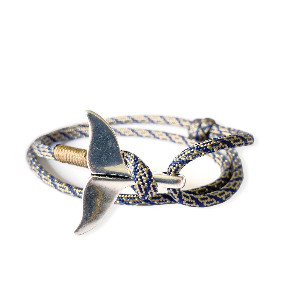 Bracelet baleine soirée bleu & or