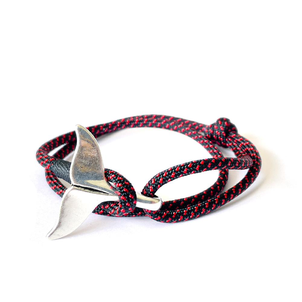Bracelet marin noir & rouge