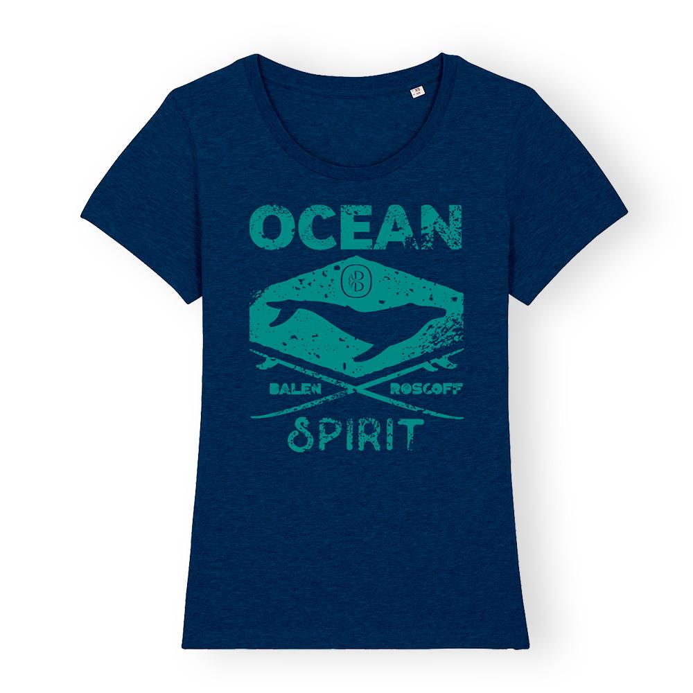 T-shirt FEMME Ocean spirit bleu & turquoise