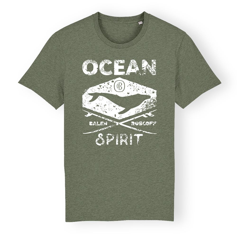 T-shirt UNISEXE Ocean spirit kaki