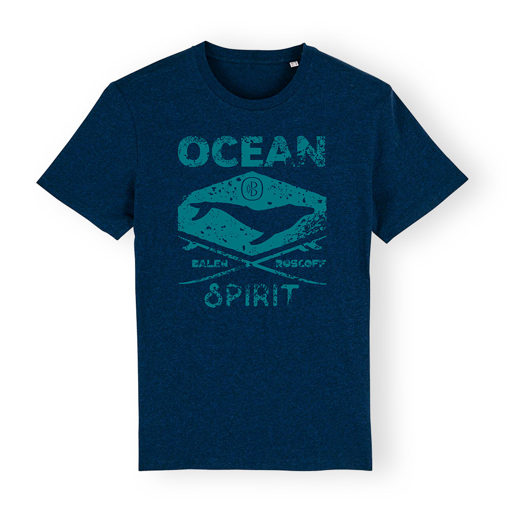 T-shirt UNISEXE Ocean spirit bleu & turquoise