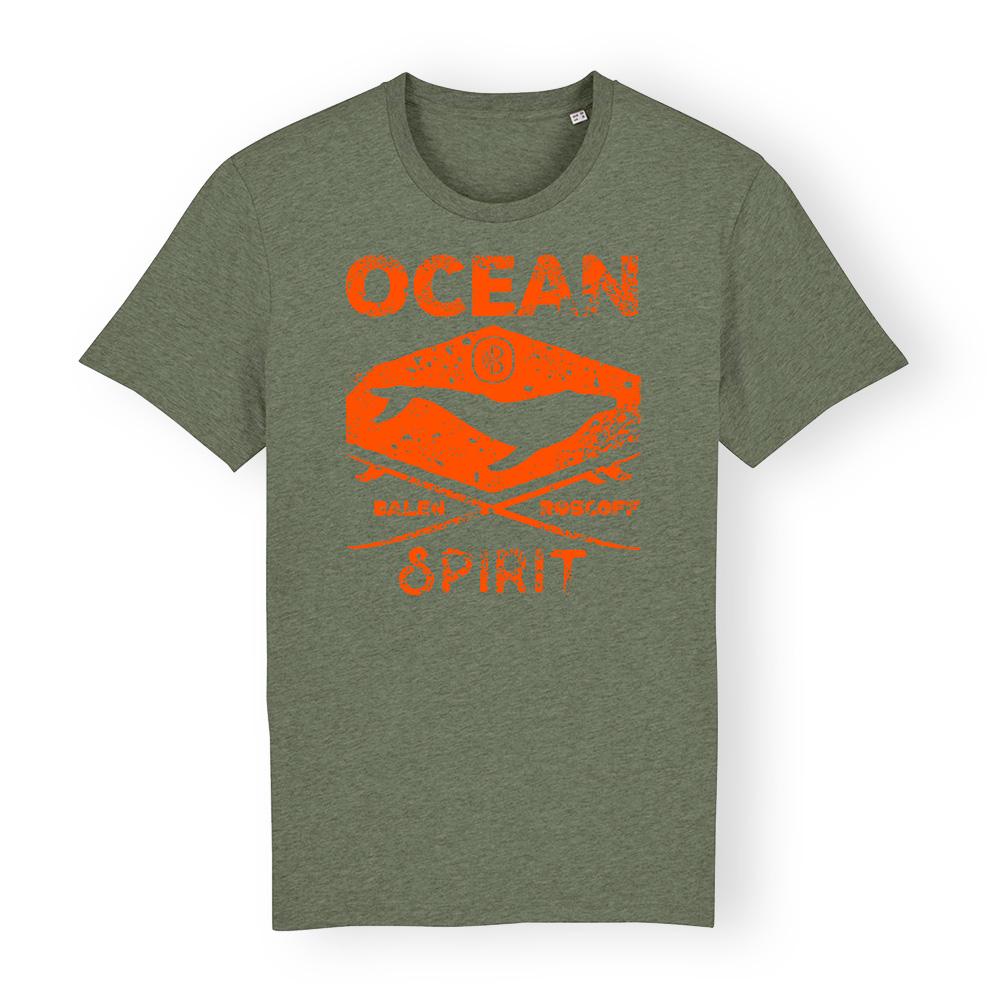 T-shirt UNISEXE Ocean spirit kaki & orange