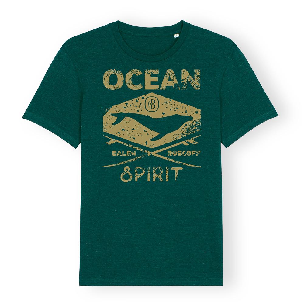 T-shirt UNISEXE Ocean spirit vert forêt & kaki