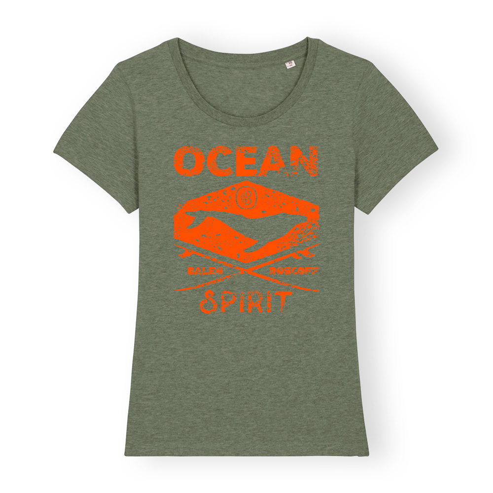 T-shirt FEMME Ocean spirit kaki & orange