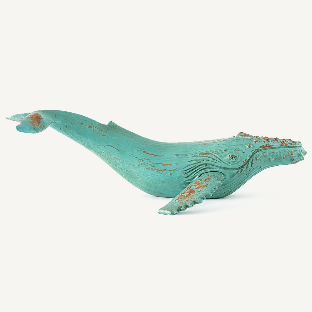 Baleine à bosse bleu turquoise
