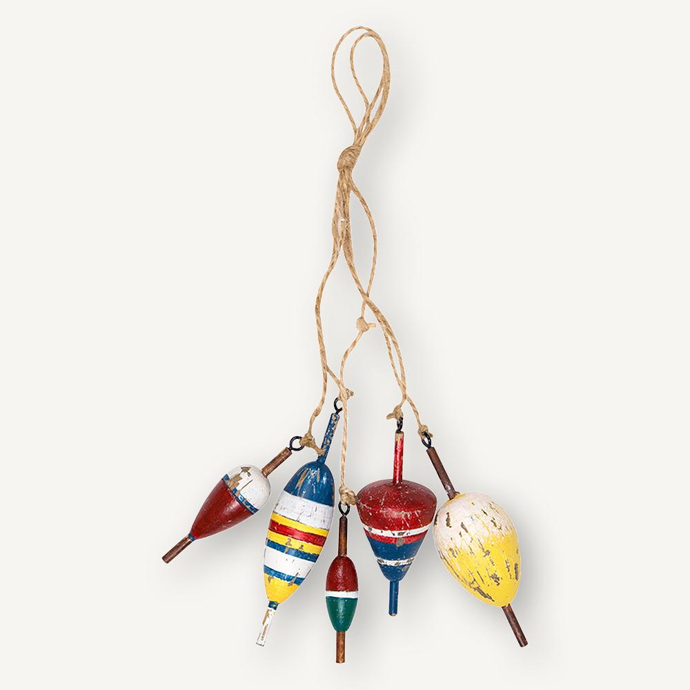 Bouchons de pêche en bois
