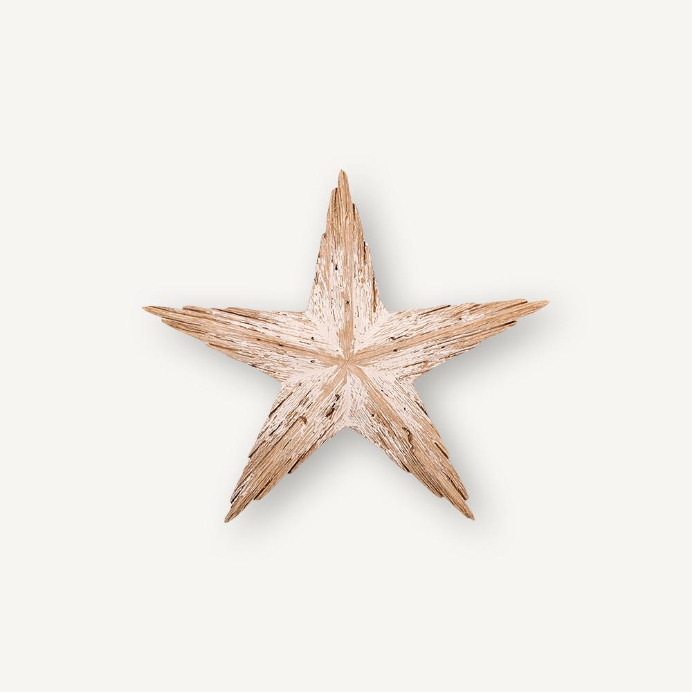 Étoile de mer en bois