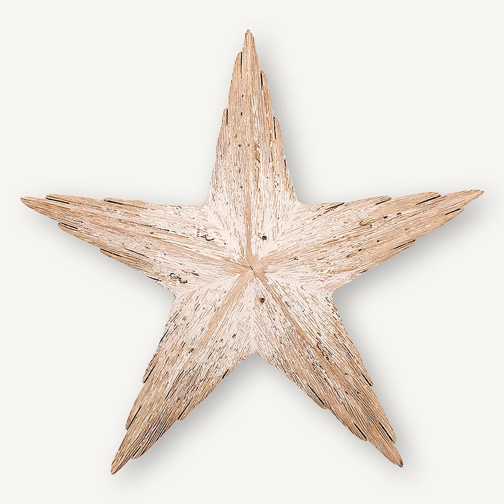 Étoile en bois usé