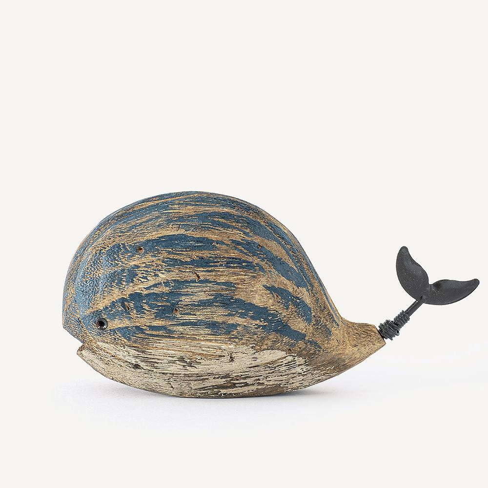 Baleine en bois gourmande moyenne