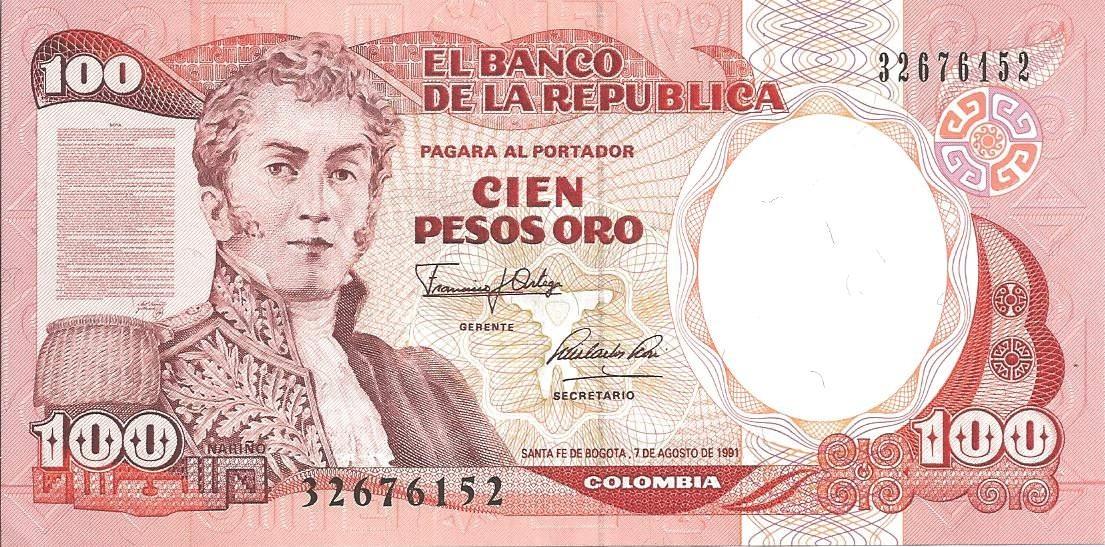 Colombie 100 pesos