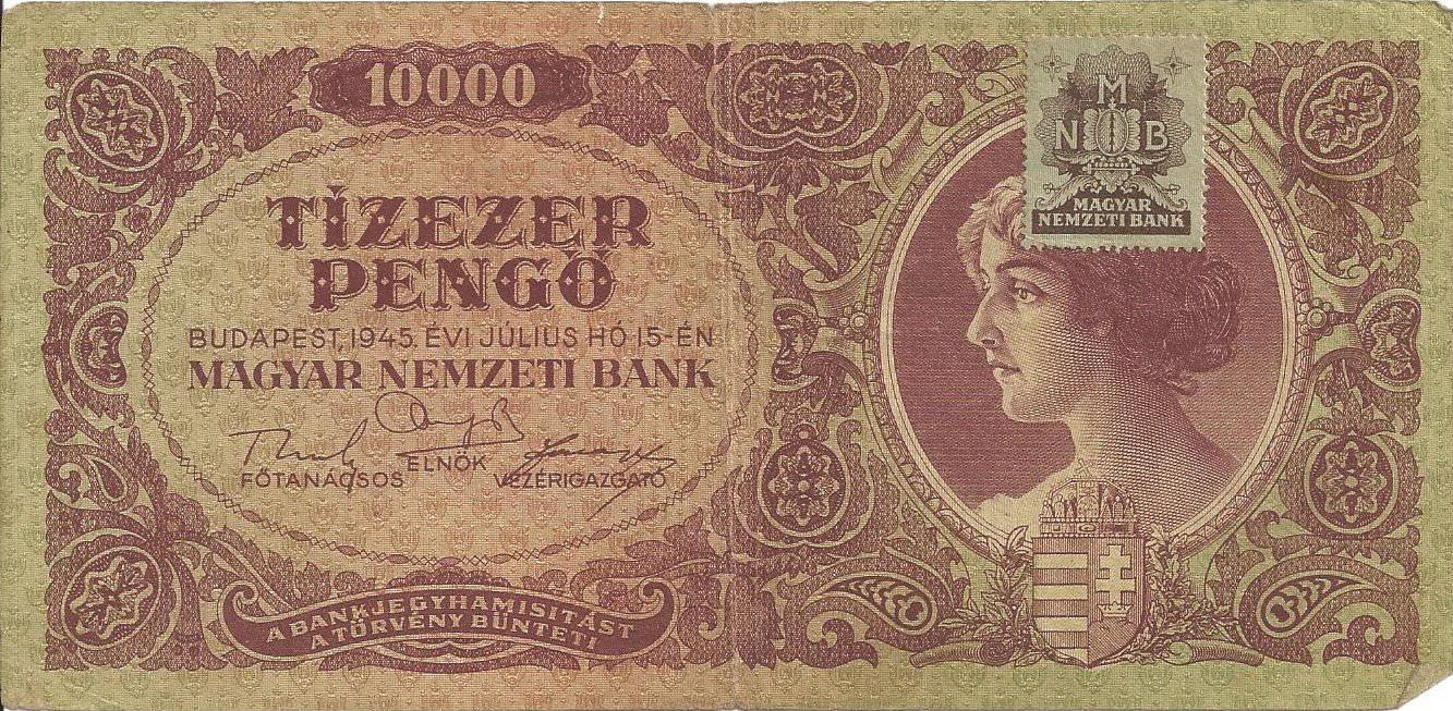 Hongrie 10000 pengo