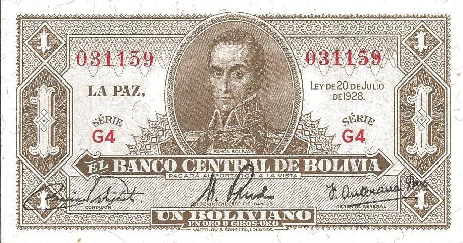 bolivie 1 peso