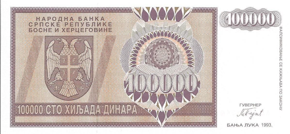 bosnie 10000 dinara 1992