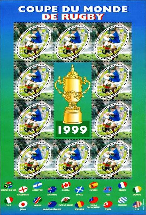 Bloc feuillet france 1999 coupe monde rugby france blocs et feuillets philatema - Rugby coupe du monde 1999 ...