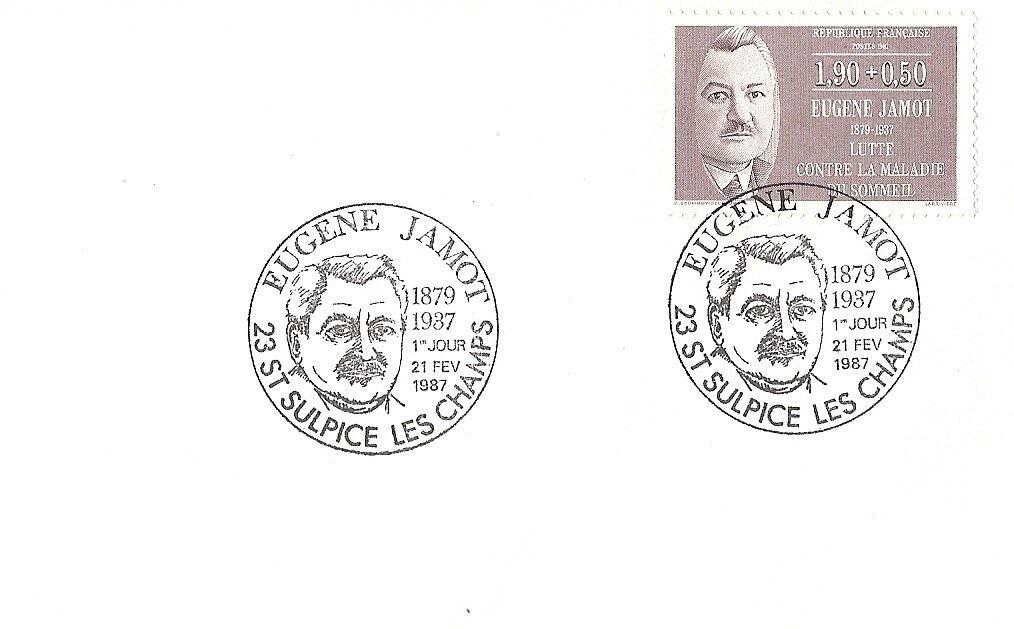 enveloppe 1er jour1987EUGENE JAMOT